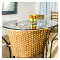"""Quisilife Beveled Polish Round Glass Table Top Tempered Glass Round 27.5"""" (Size : 27.5"""")"""