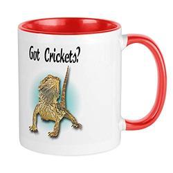 CafePress Bearded Dragon Got Crickets Mug Unique Coffee Mug, Coffee Cup