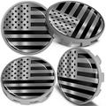 Biomar Labs 4 x 68mm Wheel Centre Alloy Hub Compatible with BMW Part Number: 36136783536 Center Caps Hubcaps Black Silver USA Flag CBS 7