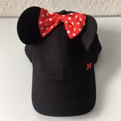 Disney Accessories | Kids Disney World Minnie Adjustable Hats | Color: Black | Size: Osg