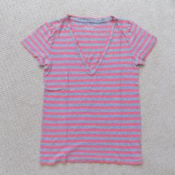 J. Crew Tops | J. Crew Jcrew Vintage Cotton V Neck Shirt | Color: Gray/Pink | Size: S