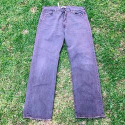 Levi's Jeans   Levis 501 Gray Denim Button Fly Denim Jeans Class   Color: Gray   Size: 36