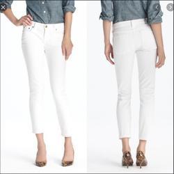 J. Crew Jeans | J. Crew Matchstick Jean White Denim Size 31short | Color: White | Size: 31