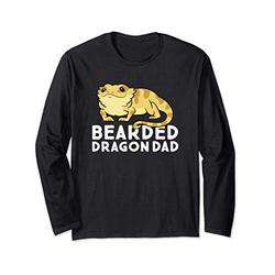 Funny Bearded Dragon Dad Gift Dad Of Bearded Dragon Long Sleeve T-Shirt