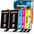 INKFUN Compatible Ink Cartridge Replacement for HP 902XL 902 XL Ink Cartridge Combo Pack for HP Officejet Pro 6978 6968 6962 6958 6970 Ink Cartridges, 5-Pack (2 Black, 1 Cyan, 1 Magenta,1 Yellow)