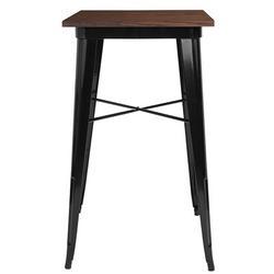 "Flash Furniture Flash Furniture Square 23.5"" L x 23.5"" W Table, Iron/Metal, Size Small (Seats up to 4) | Wayfair FFSCH-31330-40M1-BK-GG"