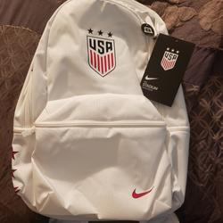 Nike Bags | Nike Usa Soccer Backpack | Color: White | Size: Os