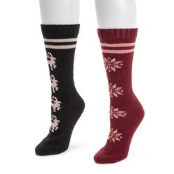 MUK LUKS Women's 2-Pack Boot Socks Size One Size Holiday