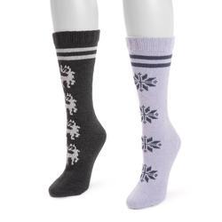 MUK LUKS Women's 2-Pack Boot Socks Size One Size Winter
