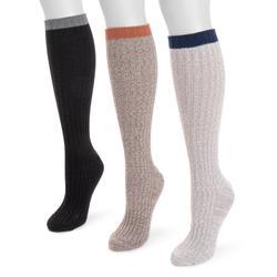 MUK LUKS Women's Fluffly Knee High Slouch Socks Size One Size Multi