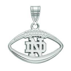 Women's LogoArt Notre Dame Football Pendant, Size: 20MM, Silver