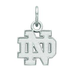 LogoArt Sterling Silver Notre Dame Fighting Irish Pendant Necklace, Women's, Size: 9 mm