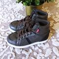 Levi's Shoes   Levi'S Gray High Top Sneakers Faux Leather Gray   Color: Blue/Gray   Size: 11b