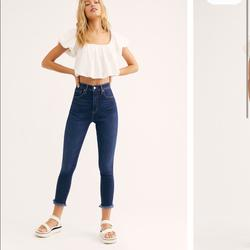 Free People Jeans   Free People High Rise Denim Jegging Jean   Color: Blue   Size: Various