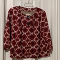 Michael Kors Jackets & Coats | Michael Kors Ikat Print Jacket Size 2x | Color: Red | Size: 2x