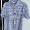 Columbia Shirts   Mens Shortsleeved Cotton Columbia Shirt   Color: Blue/White   Size: M