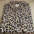 J. Crew Tops   J. Crew Lt. Pink Leopard Print Cotton Poplin Shirt   Color: Black/Pink   Size: S