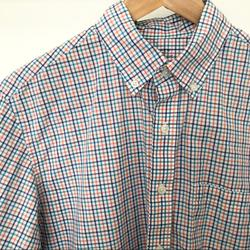 J. Crew Shirts | J.Crew Button Down Plaid Light Weight Shirt | Color: Blue/Orange | Size: St