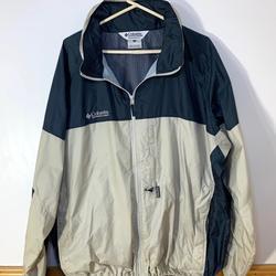 Columbia Jackets & Coats | Columbia Mens Outdoor Jacketwindbreaker Xxl | Color: Blue/Cream | Size: Xxl