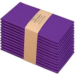 Ruvanti Kitchen Cloth Napkins 12 Pack 18 X 18 Inches ,Dinner Napkins Soft and Comfortable Reusable Napkins - Durable Linen Napkins - Perfect Table Napkins / Purple Napkins for Family Dinners, Weddings