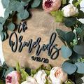"Birch & Buffalo Wedding Guest Book Wood Sign, Wedding Guest Book Alternative, Wooden Wedding Guest Book, Wedding Guestbook, 3D Guest Book (30"" Circle)"