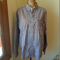 American Eagle Outfitters Shirts | American Eagle Button Down. Cotton. Xl | Color: Blue/Red | Size: Xl