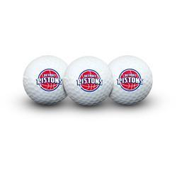 WinCraft Detroit Pistons 3-Pack Team Golf Balls