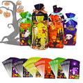 Joyjoz 72 Pcs Halloween Candy Bags, Halloween Trick or Treat Bags, Halloween Goodie Bags, Halloween Party Favors Party Supplies, Halloween Decorations Drawstring Bags(6 Designs)