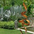 "Statements2000 Modern Metal Sculpture, Abstract Yard Sculpture, Garden Decor Indoor Outdoor Statue - Black Perfect Moment, Size: 60"" H x, Metal"
