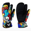 Owntop Men Women Winter Ski & Snow Gloves - Thermal Ski Gloves Waterproof Windproof Warm Insulated 3-Finger Mittens with Build-in Gloves L