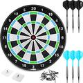 CyeeLife 18in No Electronic Dart Board for Soft tip Darts Set,Dartboard with 6pcs Plastic Darts Set