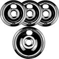 WB31M20 and WB31M19 Porcelain Burner Drip Pan Bowls Replacement By AMI PARTS Fits GE/Hotpoint Electric Range Cooktop Includes 1 8-Inch and 3 6-Inch Drip Pans