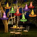 UMIKU Halloween String Lights Halloween Decorations 8pcs Witch Hats 40ft 8 Modes Light String for Indoor Outdoor Decorations Halloween Light Décor for Tree Patio Garden Yard Party Décor Home Décor