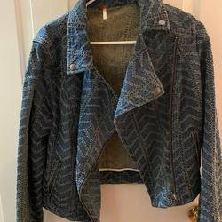 Free People Jackets & Coats | Free People Jean Jacket | Color: Red | Size: 12