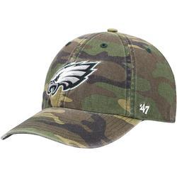 Men's '47 Camo Philadelphia Eagles Woodland Clean Up Adjustable Hat