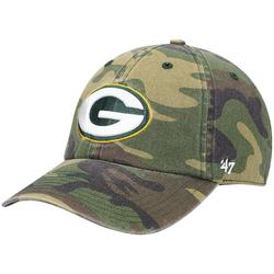 """""""Men's '47 Camo Green Bay Packers Woodland Clean Up Adjustable Hat"""""""
