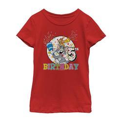 Fifth Sun Girls' Tee Shirts RED - Tom & Jerry Red '5th Birthday' Tee - Girls