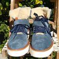 Coach Shoes | New Coach Urban Hiker Boot Suedesheep Fur 838.5 | Color: Blue/Cream | Size: 8
