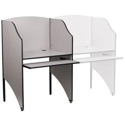 Flash Furniture Laminate Study Carrel Laminate/Metal, Size 49.63 H x 31.25 W x 23.75 D in | Wayfair MT-M6201-GY-GG