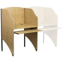 Flash Furniture Laminate Study Carrel Laminate/Metal, Size 49.63 H x 31.25 W x 23.75 D in   Wayfair MT-M6201-OAK-GG