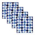 Robin Ann Meyer Gum Drop Cotton Napkin Set Of 4 in, Blue in, Set of 4 Napkins Cotton in Blue/Gray, Size 20.0 W x 20.0 D in | Wayfair TT007_Set