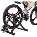 Printasaurus Bike Trainer Stand Bicycle Exercise Magnetic Stand with Front Wheel Riser Block,Adjust The Speed of Resistance Change