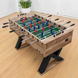 Pinpoint Foosball Table | Foosball Game Table | Game Table for Foosball | Soccer Table for Soccer Games | 55in Length Regulation Size Foosball Table for Kids & Adults