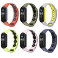 KOMI Replacement Band for Xiaomi Mi Band 5, Breathable Sport Silicone Wristbands Bracelet for Woman Men Replacement Wrist Strap (B-6PCS)