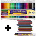 June Gold 36 Assorted Colored 2.0 mm Mechanical Pencils, 36 Unique Colors, w 36 Assorted Refills Included