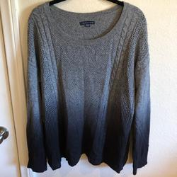 American Eagle Outfitters Sweaters | American Eagle Ombr Dyed Grey Blue Knit Sweater | Color: Blue/Gray | Size: M