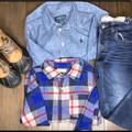 Polo By Ralph Lauren Other   Boys Sz 4 Fall Outfit   Color: Blue/Red   Size: Sz 4 And 11 Shoe
