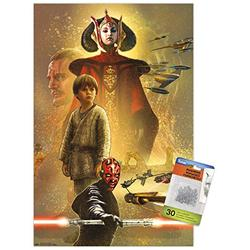 Star Wars: The Phantom Menace - Celebration Mural Wall Poster with Push Pins