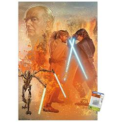Star Wars: Revenge Of The Sith - Celebration Mural Wall Poster with Push Pins