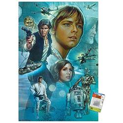 Star Wars: A New Hope - Celebration Mural Wall Poster with Push Pins